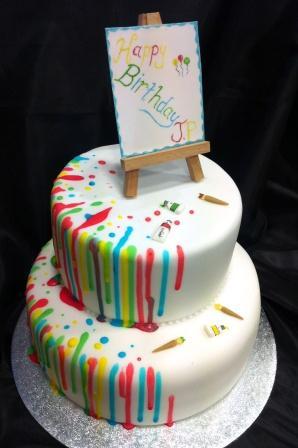 Artist Easel Birthday Cake Sweet Serenity