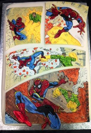 Spiderman Comic Strip Cake
