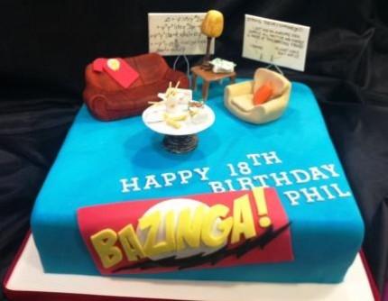 Big Bang Theory Set Birthday Cake