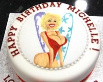 Woman's Caricature Cake