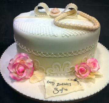 Vintage Hat Box Birthday Cake