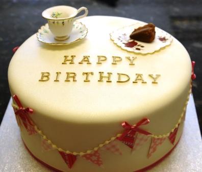 Vintage Tea Party Birthday Cake