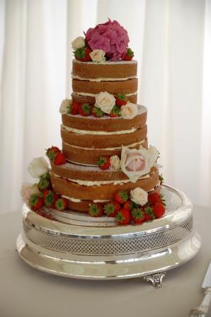 """""""Naked"""" Wedding Cake"""