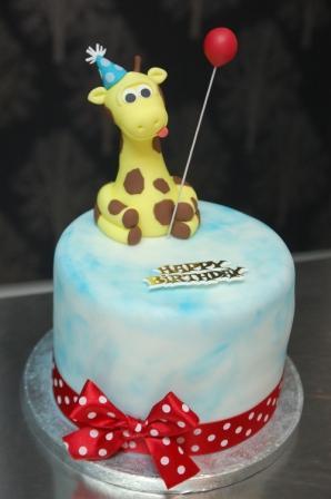 Giraffe Birthday Cake Sweet Serenity
