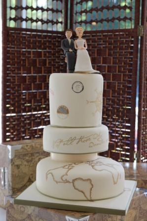 Travel Inspired Wedding Cake