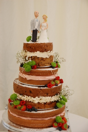 Naked Wedding Cake - Dorset Apple