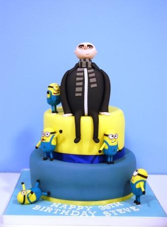 """Despicable Me"" Birthday Cake"