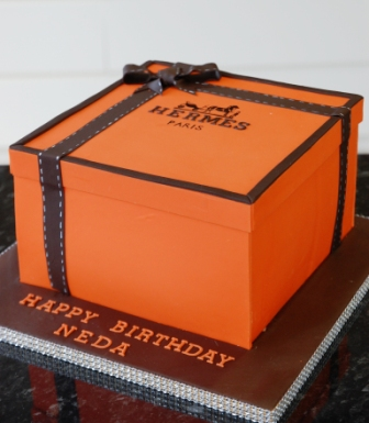 Hermes Box Birthday Cake