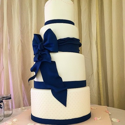 Simple Navy Wedding Cake