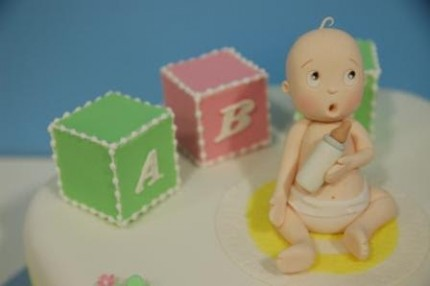 ABC Baby Blocks Cake