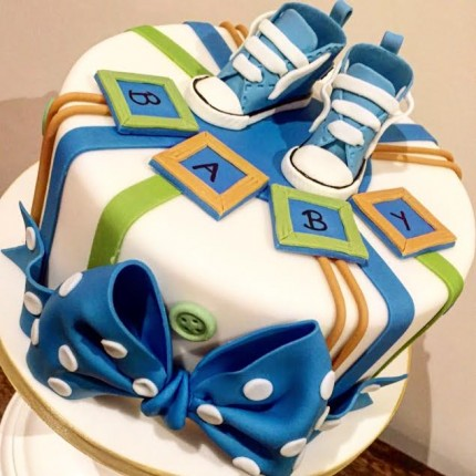 Converse Baby Shower Cake