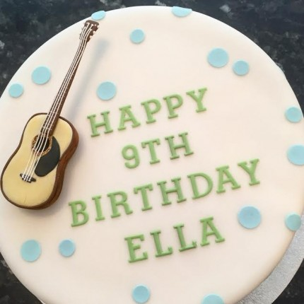 Back To Our Cake Gallery Simple Guitar Birthday