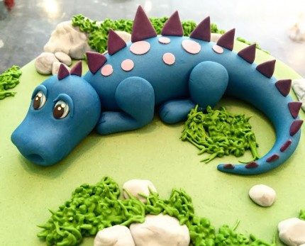 Simple Dinosaur Cake Sweet Serenity