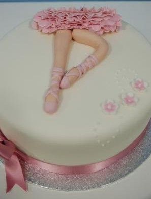 Simple Ballet Cake