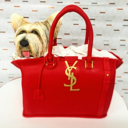 YSL Doggie Handbag Cake
