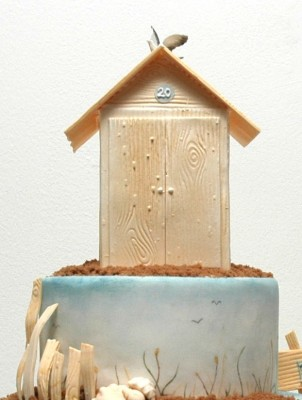 3d Beach Hut Cake Decorating Course