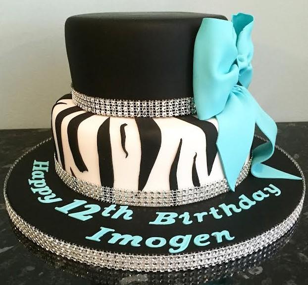 Birthday Cake Pictures To Print : Zebra Print Birthday Cake