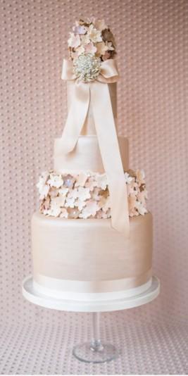 Mocha Pomander Wedding Cake