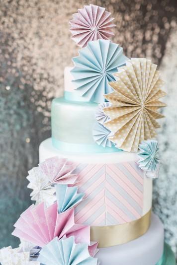 Candy Pinwheel Wedding Cake