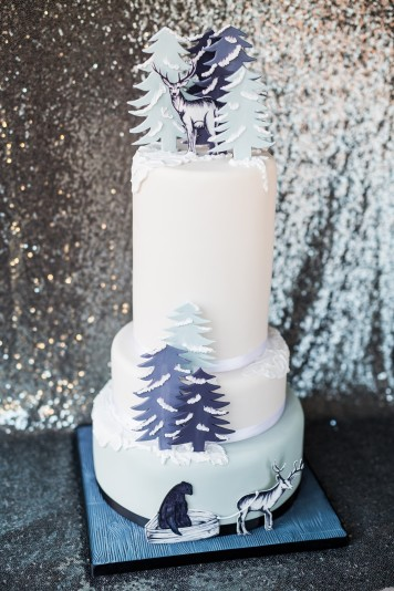 Winter Forest Wedding Cake