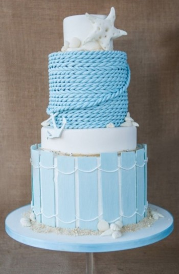 Boardwalk Beach Wedding Cake